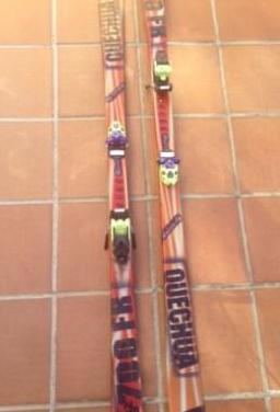 Esquís quechua y botas salomón