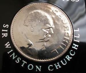 Moneda conmemorativa sir winston churchill