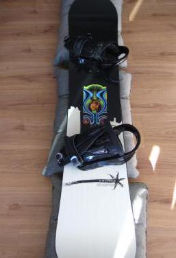 Pack de snowboard con fijaciones y funda
