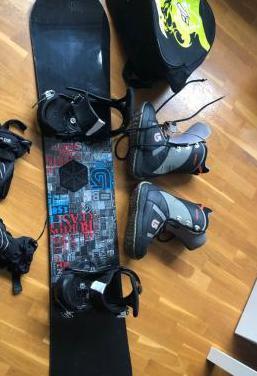 Tabla snow , botas y fijaciones todo burton