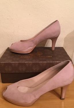 Angel alarcón - zapatos peeptoe mujer