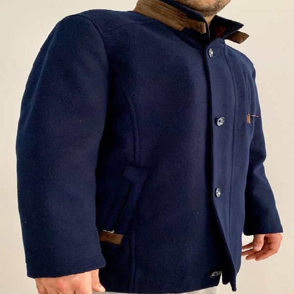 Abrigo caballero azul marino