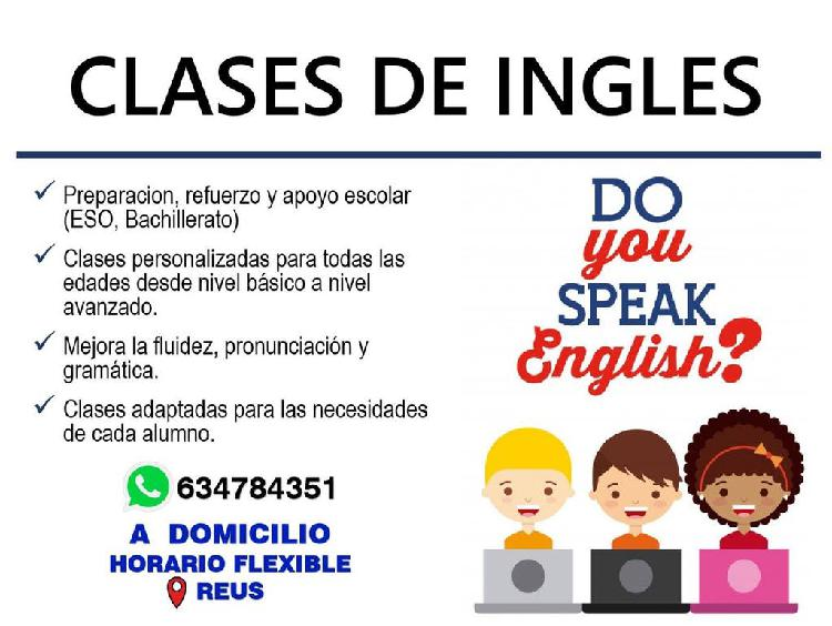 Clases de inglés a domicilio- reus
