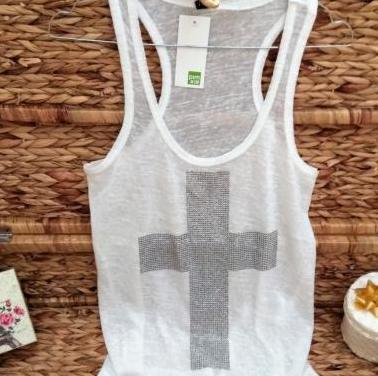 Camiseta punto cruz
