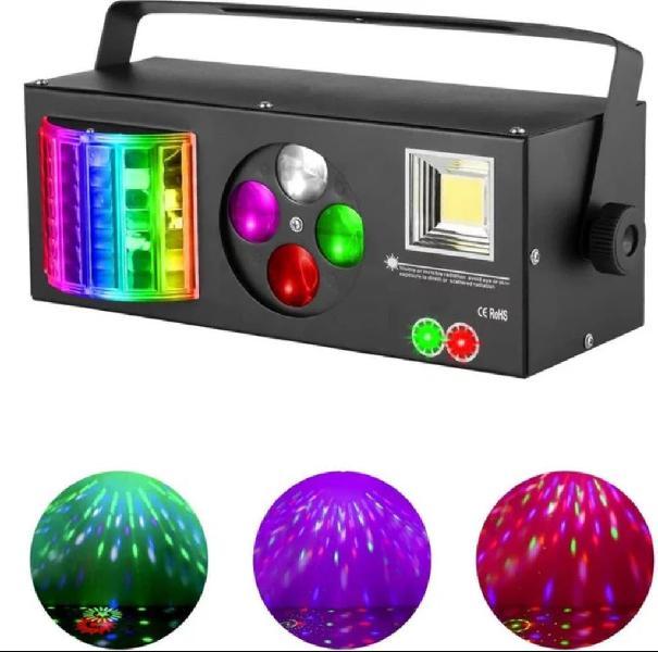 Efecto 4 en 1 flash, derby, laser rojo/verde, beam