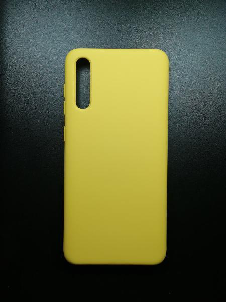 Funda goma color - samsung a70 amarillo