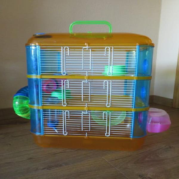 Jaula hamster gran canaria 3 pisos + bola de ejer