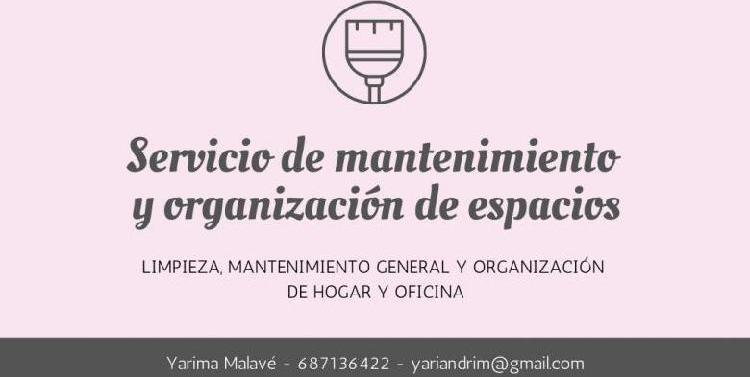 Limpieza y organización hogar u oficina