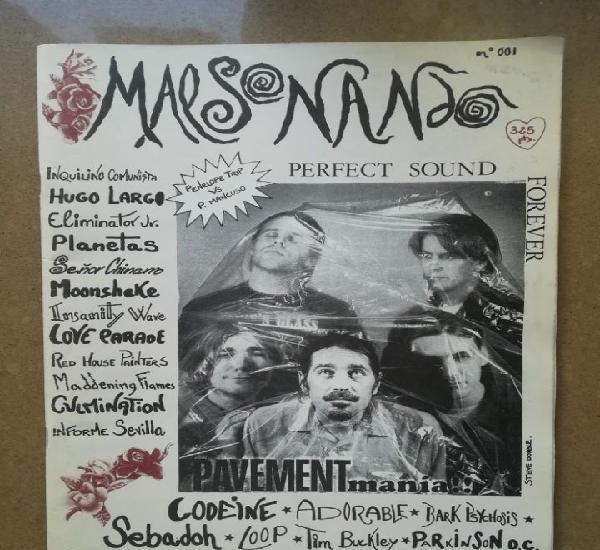 Malsonando nº 1 (fanzine de musica indie, años 90)