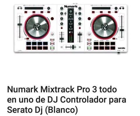 Numark mixtrack pro 3 serato, serie limitada white