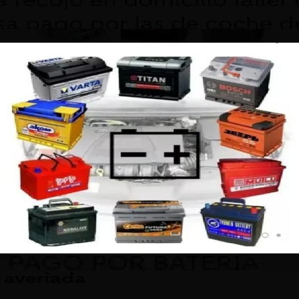 Pago por baterías gastadas o averiadas
