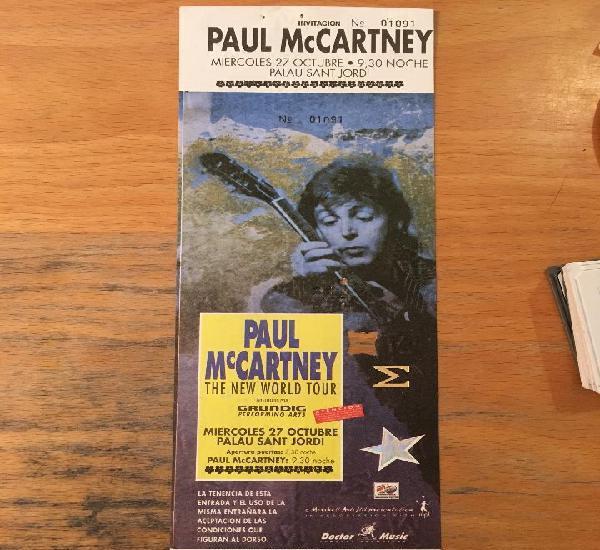 Paul mccartney bcn 27 octubre sin romper y con matriz