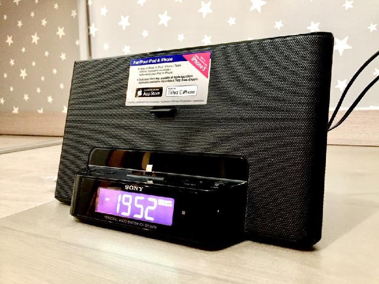 Radio despertador sony para iphone