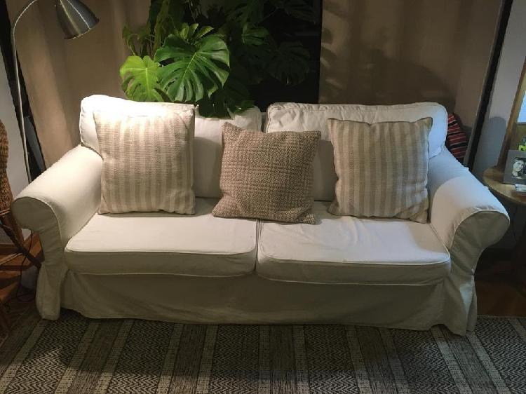 Sofá cama (doble) tres plazas, desenfundable, ikea