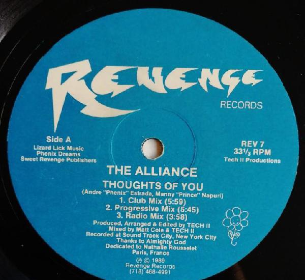 The alliance – thoughts of you, revenge records rev 7
