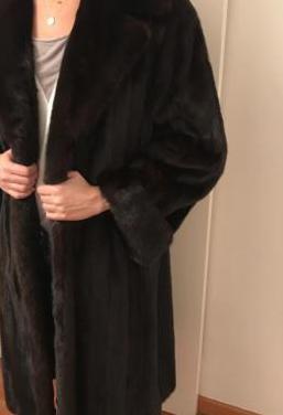 Abrigo largo visón