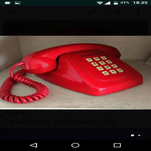 Telefono antiguo de teclas años 60