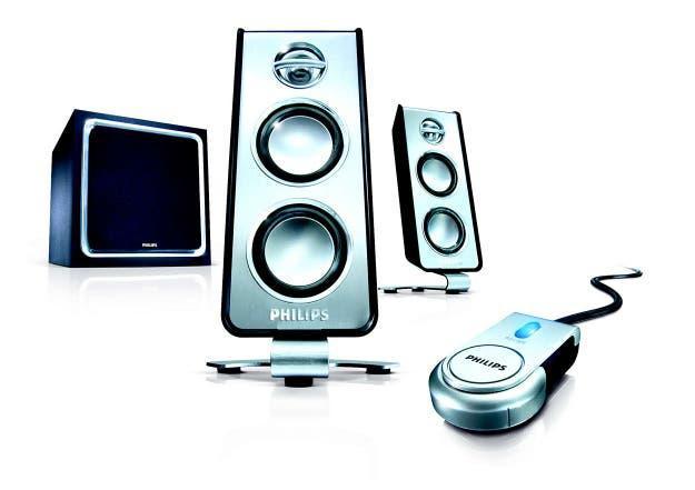 Altavoces multimedia 2.1, marca phillips