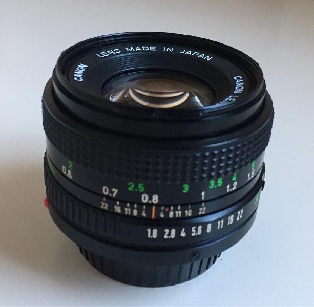 Objetivo canon fd 50 mm 1:1.8