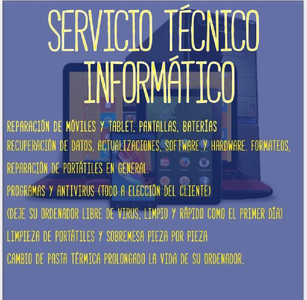 Servicio técnico informatico a domicilio