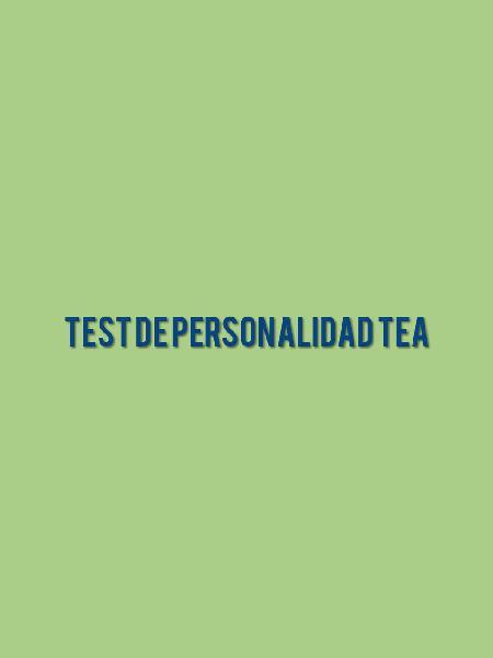 Test de personalidad tea