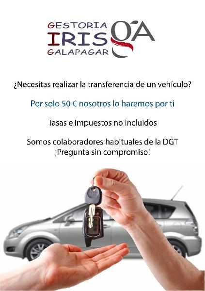 Transferencia de vehículos en galapagar