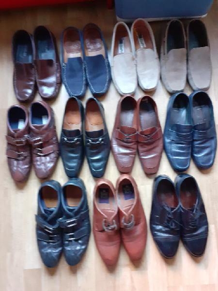 Lote zapatos piel y cuero