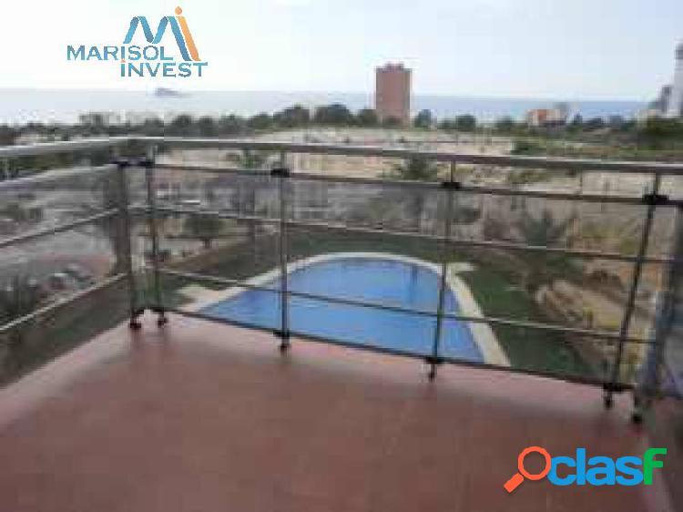 Apartamento en vía parque. 1dorm con balcón, cocina, salón con terraza. trastero. garaje, piscina.