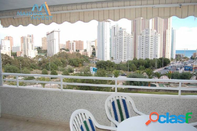 Apartamento en cala de benidorm. 1dorm, 1baño,cocina y salón con gran terraza abierta. vistas al mar