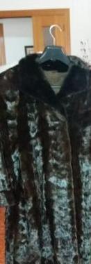 Abrigo de piel auténtica