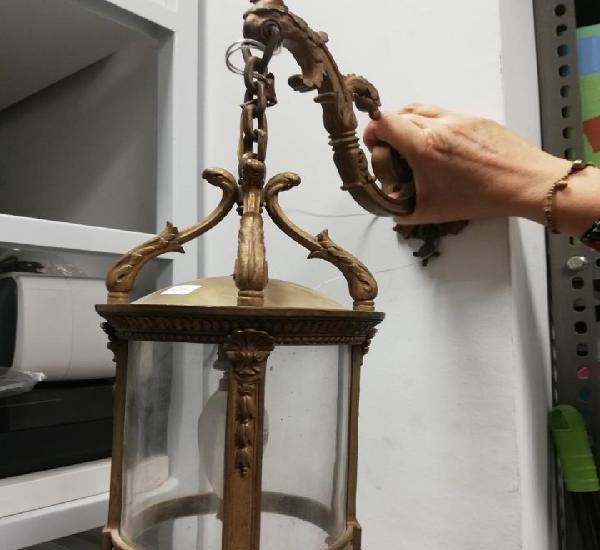 Aplique de pared de bronce y cristal curvo