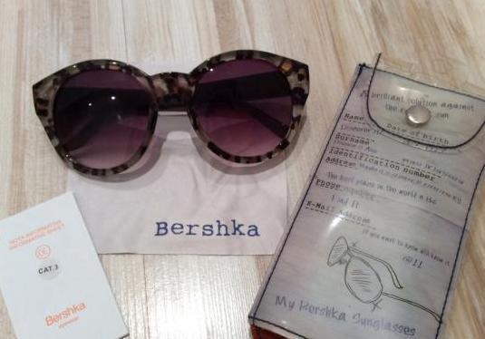 Etiqueta bershka gafas sol con funda yym