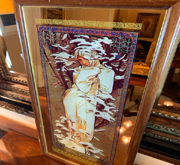 Invierno espejo alphonse mucha art nouveau