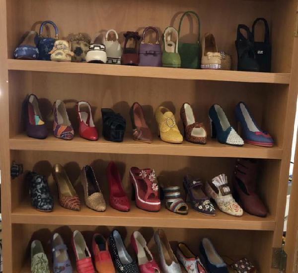 Lote zapatos y bolsos ceramica