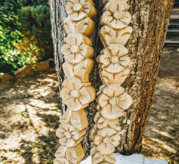 Preciosas tallas moldura de madera antiguas