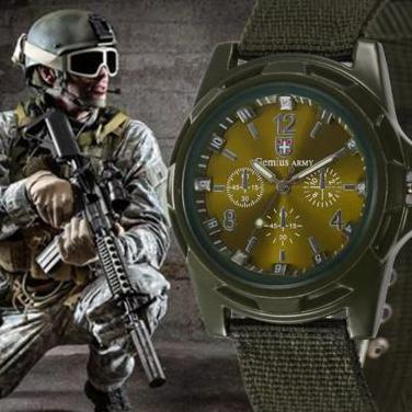 Reloj cuarzo deportivo - color verde militar