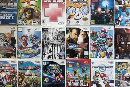 Varios juegos para wii en su caja