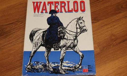 Waterloo wargame avalon hill 1962 juego