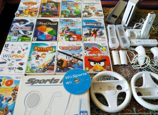 Wii ganga consola 14 juegos mandos accesor