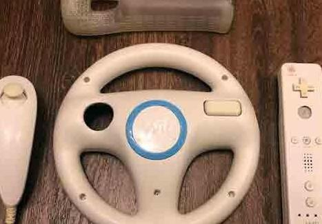 Wii mando nunchuck volante funda