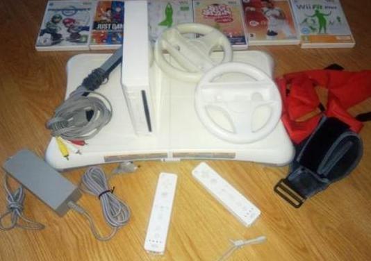 Wii con balance board y juegos