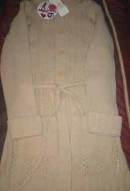Abrigo nuevo tres cuartos de lana talla s