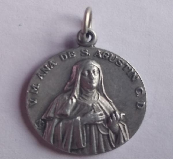Medalla beata ana de san agustin villanueva de la jara