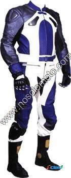 Mono de moto dos piezas en color azul; ref202