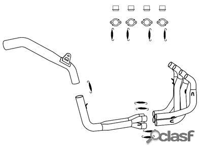 Tubo Escape ---TERMIGNONI--- motos: Kawasaki ZX 6RR - 636 05-06 - 4x2x1 SBC ---> Tubo de Escape