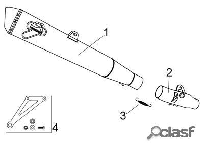 Tubo escape suzuki -- termignoni-- para motos: gsx-r 1000 05-06 - 1 silenciador conical
