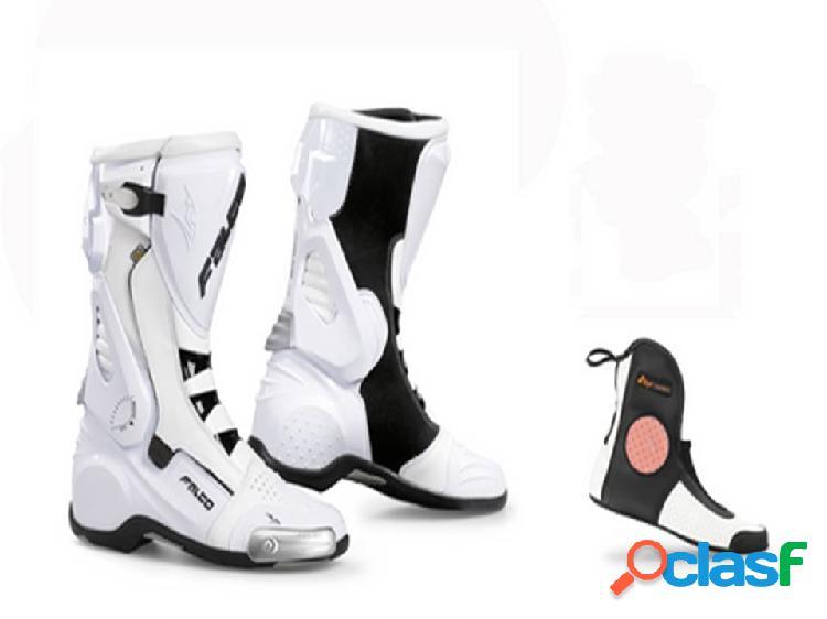 Moto botas de racing color blanco, marca falco, modelo eso pro 2
