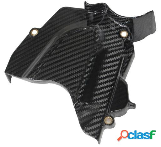 Cubierta del piñón de fibra de carbono para motos mv f3 675 de 2012.