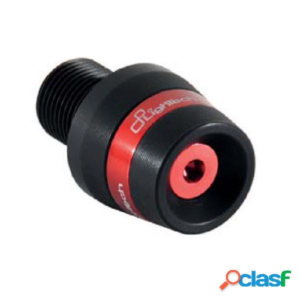 Aprilia:tuono v4 (2011-2013) contrapesos del manillar (lightech) para motos (negro y rojo) (devil)