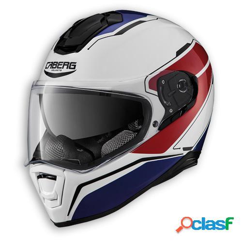 Casco drift tour de caberg. integral para moto. color blanco / rojo / azul